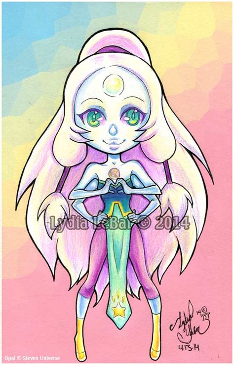 imagenes anime de steven universe lilly lamb chibi series opal steven universe by lilly