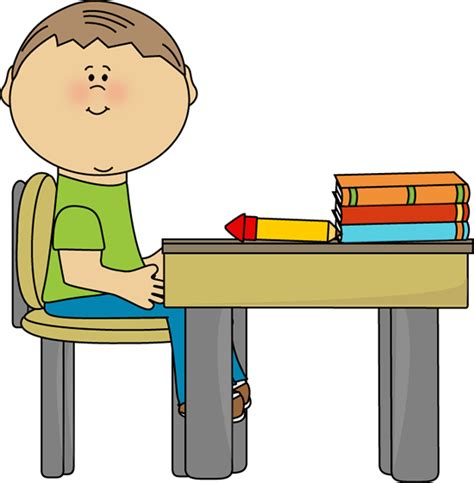 art desk for 6 year old boy at desk clip art pinterest