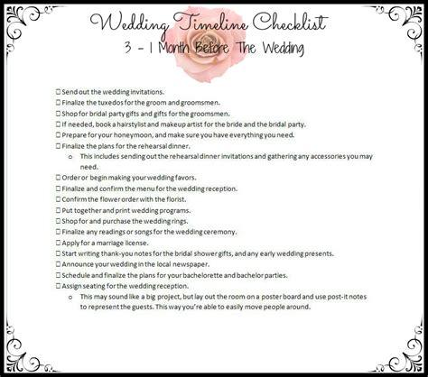 Wedding Checklist One Week by Wedding Planner Wedding Checklist Timeline 4 Months