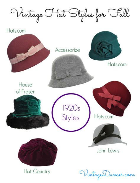 vintage hat styles for fall winter