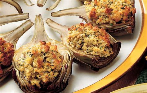 come cucinare i carciofi ripieni ricetta mezzi carciofi ripieni al forno le ricette de la