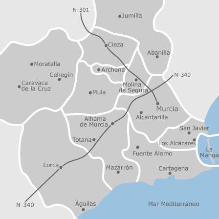 mapa de murcia provincia viviendas en alquiler idealista