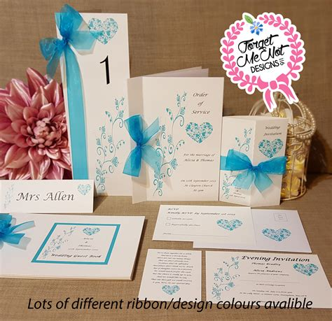 Personalised Wedding Stationery by Handmade Personalised Wedding Stationery Lots Of Design