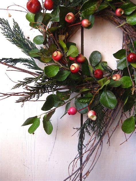 colonial christmas wreath winter wreath evergreens