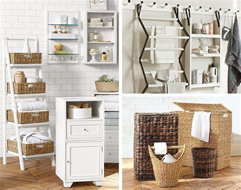 9 Clever Towel Storage Ideas For Your Bathroom Pottery Barn Pottery Barn Bathroom Storage