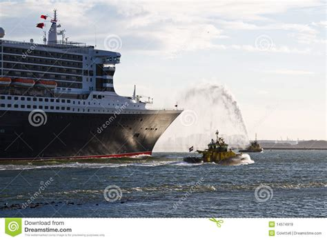 fire boat spraying water fire fighting boat spraying jets of water royalty free