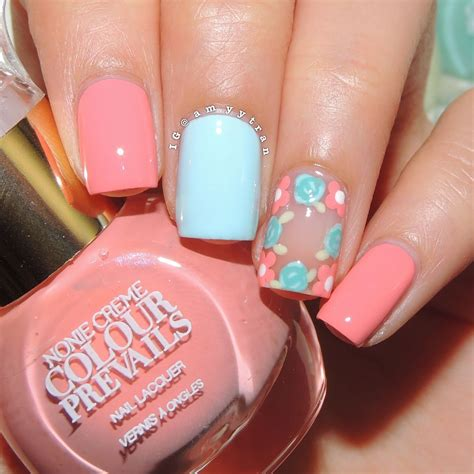 cute nail designs with a crown flower crown negative space nails by amyytran floral