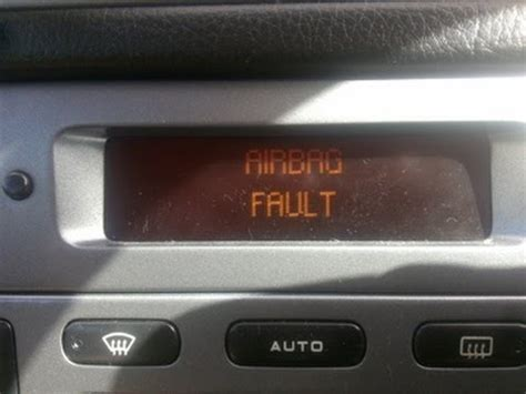 peugeot 406 airbag fault fix