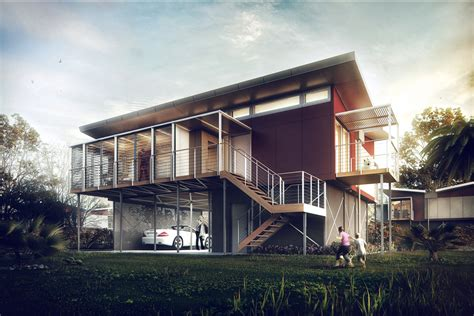 Kiribati House By S 233 Rgio Mer 234 Ces Architecture 3d House Plans 3d Max