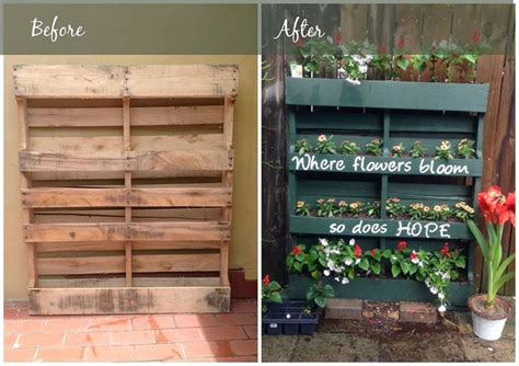 diy projects using pallets how to turn a shipping pallet into a vertical garden diy
