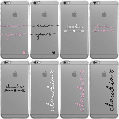 personalised handwritten clear case  names phone case cover  apple iphone ebay