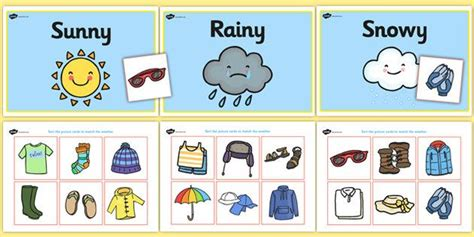 clothes for different seasons worksheet weather clothes sorting activity clothes sorting