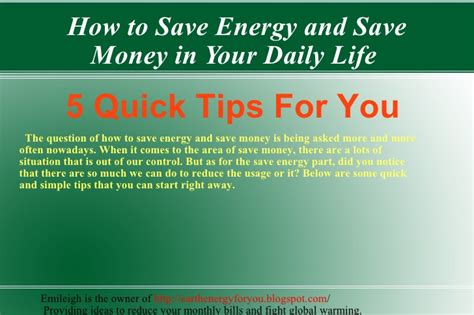 how to save electricity and how to save energy and save money in your daily