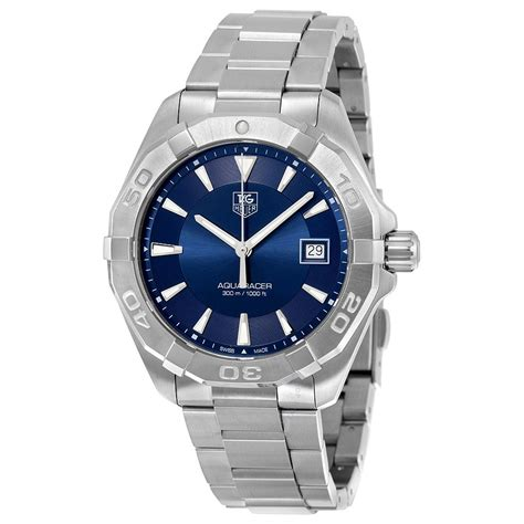 tag heuer tag heuer aquaracer blue sunray dial men s watch way1112