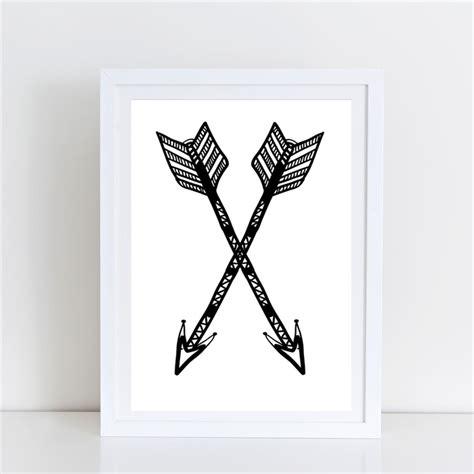 a4 printable wall art boho arrows nursery bedroom wall art print a4 unframed