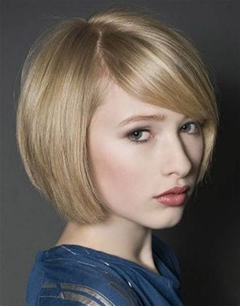 pictures of haircuts with lots of volume around crown chic bob haircut with side swept bangs latest short
