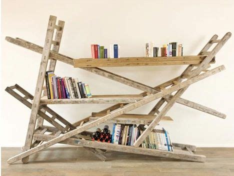 Echelle En Bois 1794 by Ladders Re Purposed As A Bookshelf Chris Ruhe