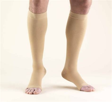 can you wear compression socks to bed truform 0845 compression stockings below knee open toe