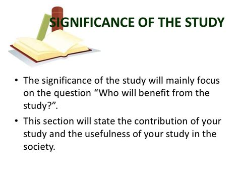 significance of the study in research paper advice on writing and revising critical essays