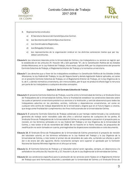 contrato colectivo de educacion 18