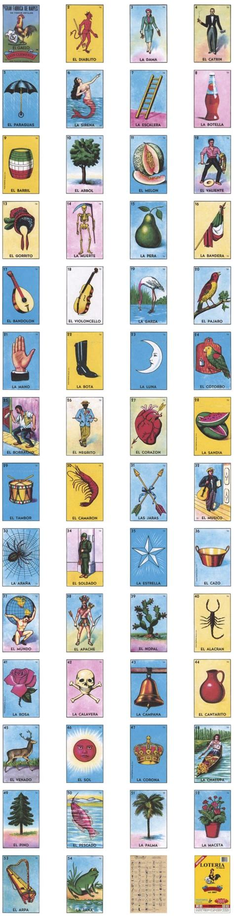Loteria Card Template by The Original Loteria Cards Don Clemente Designvault