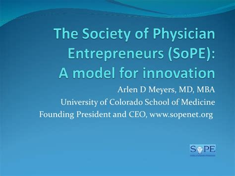 Becca Mba Niversity Of Maryland College Linkedin by The Society Of Physician Entrepreneurs So Pe