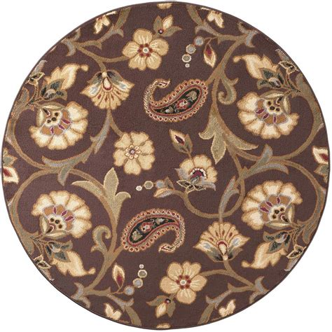 Tayse Rugs Elegance Brown 7 Ft 10 In X 7 Ft 10 In 7 Ft Rug