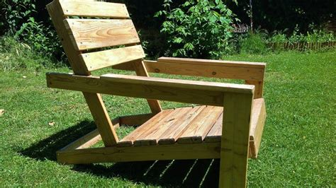 diy easy homemade garden chairs  pallets youtube