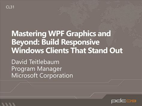 xaml layout responsive ppt mastering wpf graphics and beyond build responsive