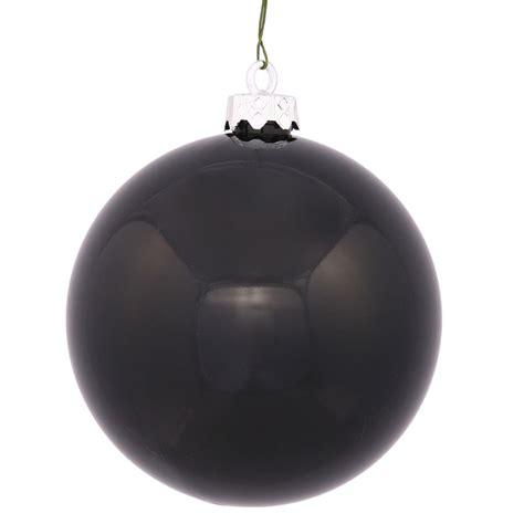 vickerman 24949 3 quot black shiny ball christmas tree