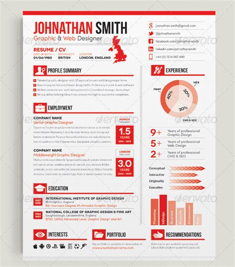 Cv Template Indesign Indesign Resume Template