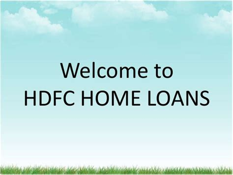 hdfc housing loan details hdfc home loans
