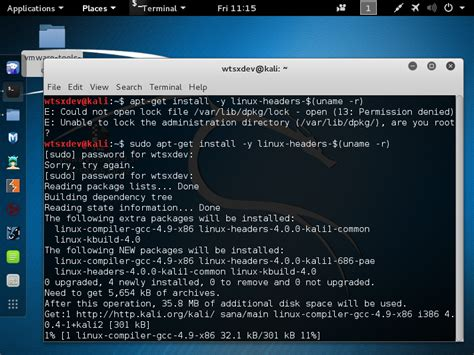 tutorial kali linux vmware how to install vmware tools in kali linux kalitut tutorial