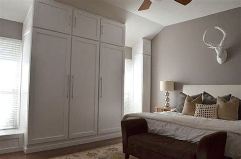 Building A Wardrobe - diy how to build a wall of closets from scratch for the