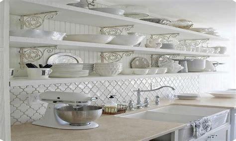 Arabesque White Backsplash Tiles Kitchen Ideas