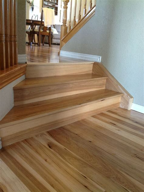 Hardwood Flooring On Stairs Hickory On Stairs Wood Flooring Ideas