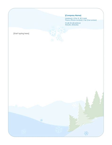 holiday stationery templates for outlook flexsky