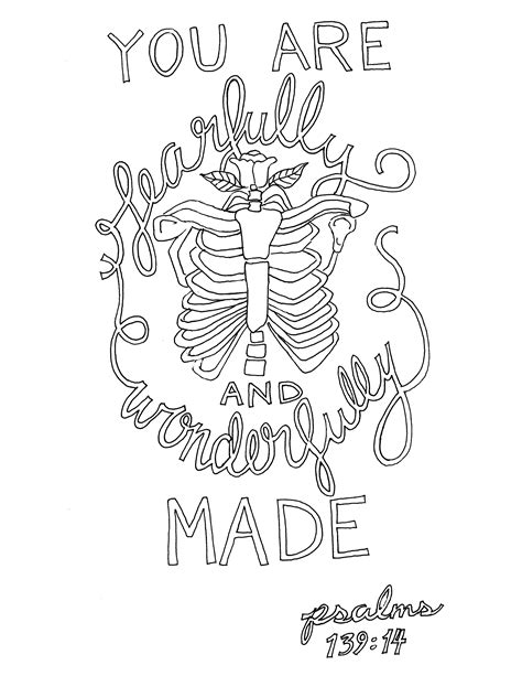 Psalm 139 14 Coloring Page From Victory Road Psalm 139 Coloring Page