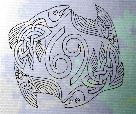 celtic fish pisces cancer by design on deviantart