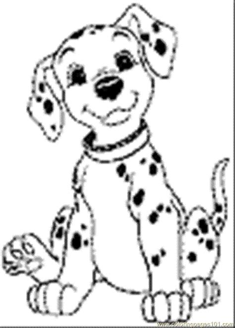 free dalmatian fire dog coloring pages