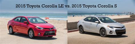toyota corolla le vs s what s the difference miller
