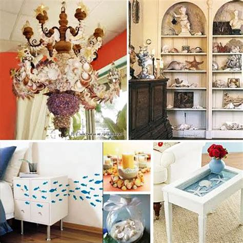 nautical themed decorations for home enhancing nautical decor theme with sea shell crafts and images