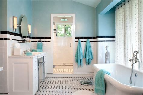 bathroom tiles blue and white blue and white subway tile bathroom bathroom decor ideas
