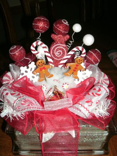 handmade holiday glass block gingerbread candyland