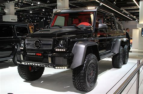 mercedes jeep 6 wheels brabus b63s 700 6x6 is an even wilder six wheel g wagen