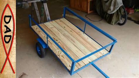 diy lawn mower trailer garden cart youtube