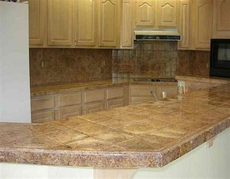 tiled kitchen countertops best materials for kitchen countertops