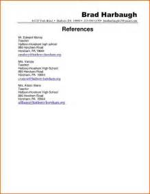 Resume And Reference Template 14 Cv References Format Event Planning Template