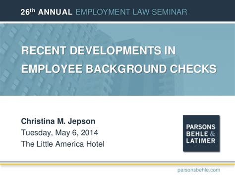 Hr Background Check Recent Developments In Employee Background Checks