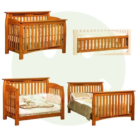 Baby Cribs Made In Usa Arcadia Convertible Baby Crib Made In Usa Solid Wood American Eco Furniture
